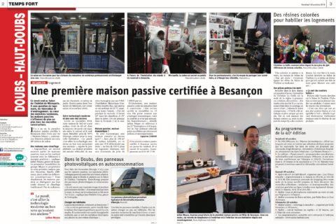 La première maison passive certifiée à Besançon !
