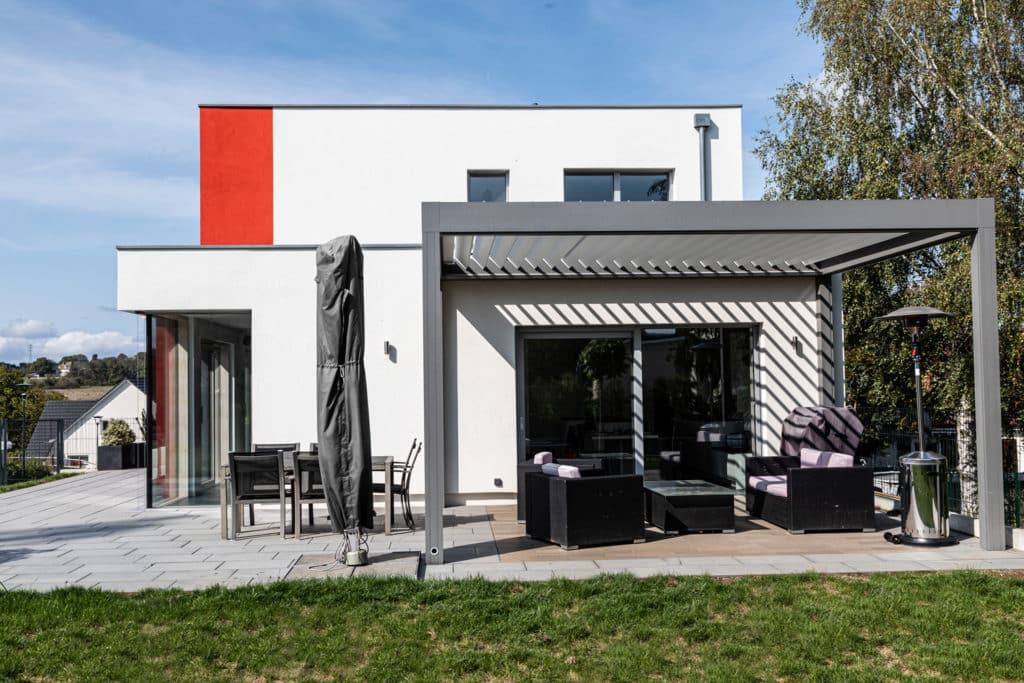 Maison passive toiture terrasse