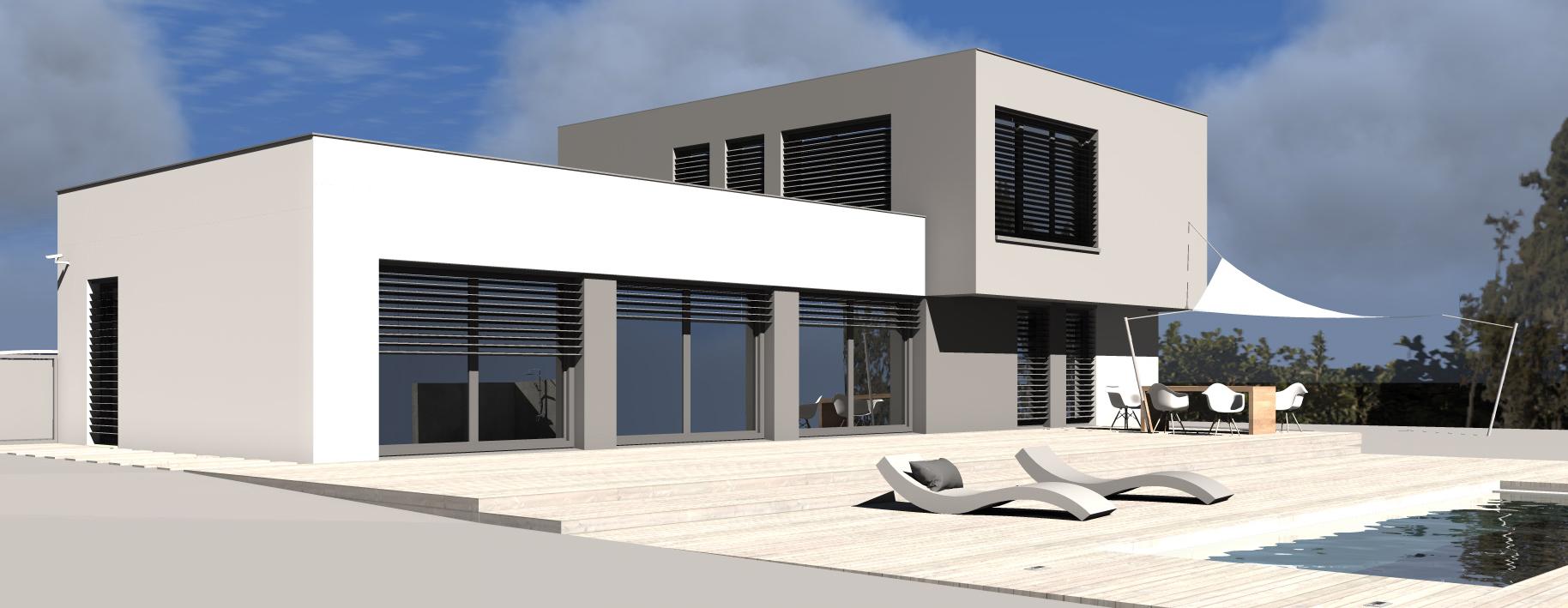 maison passive toit plat