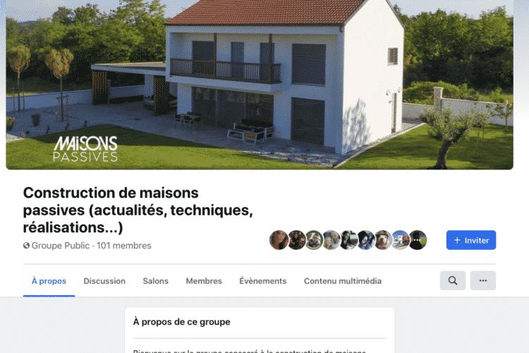 Rejoignez le groupe Facebook dédié aux maisons passives